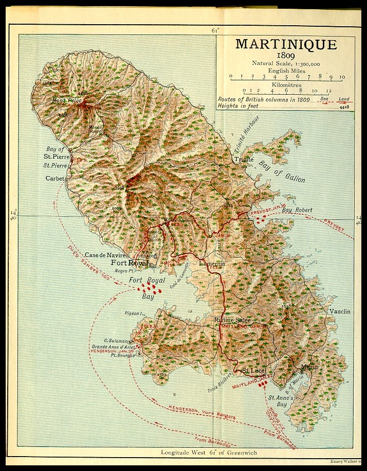 Mapas de Martinica | França