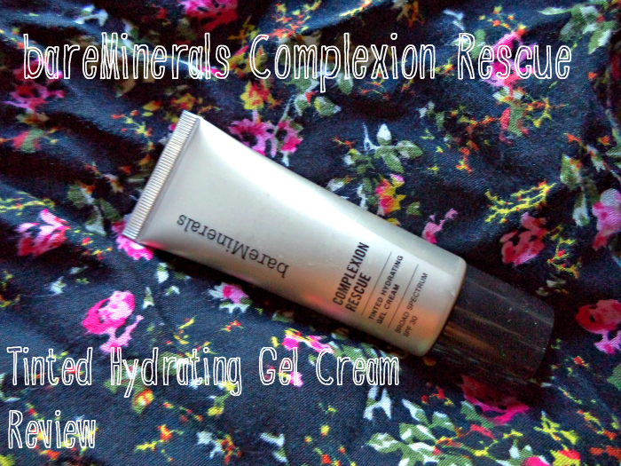 REVIEW | BareMinerals Ready Gel Complexion Rescue Cream 03 buttercream review and swatches