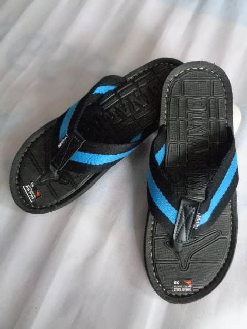 Sandal Spon Dinar MAs Tali hitam biru