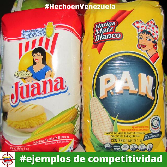 Harinas de maíz Juana y Pan ejemplos de competitividad
