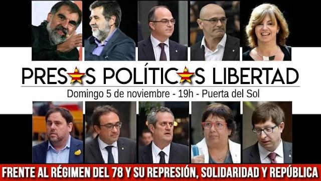 españa,presos,politicos,cataluña,libertad,represion,solidaridad,manifestacion,madrid