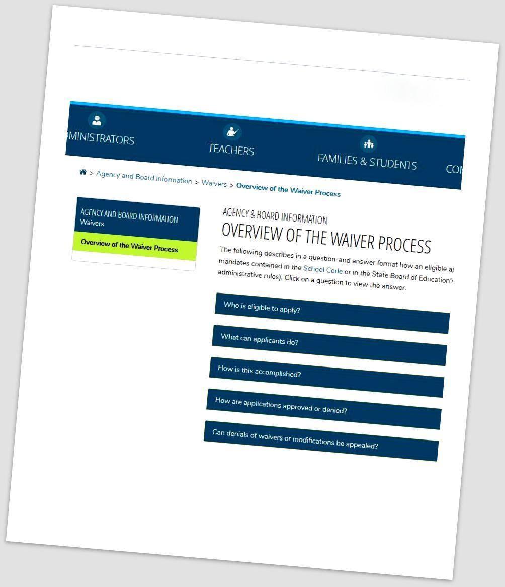Illinois School Board News Blog Waiver Request Deadline Nears