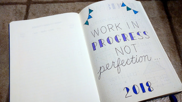 Focus Word: Make Progress in 2018 -- Bullet Journal Cover Page | Taste As You Go