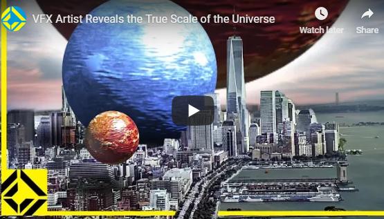 A verdadeira escala do universo...