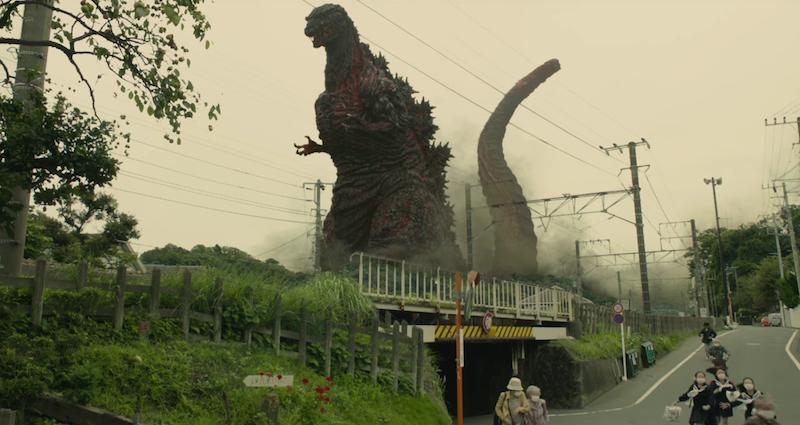 Godzilla Resurgence (2016). Directors: Hideaki Anno, Shinji Higuchi Cast: Hiroki Hasegawa, Yutaka Takenouchi, Satomi Ishihara, et al.  Gojira (Godzilla) created by Tomoyuki Tanaka, Ishiro Honda, Eiji Tsubaraya.
