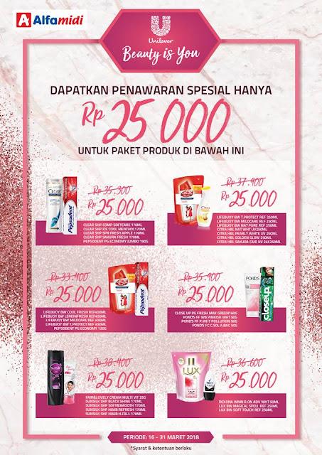 Dapatkan harga Paket Unilever spesial HANYA Rp 25.000.