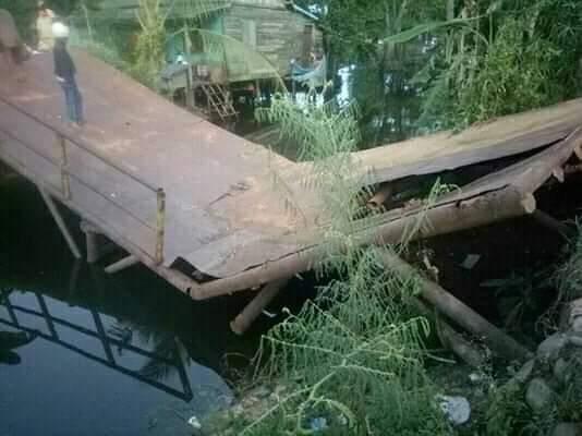 Sering Dilalui Truk Bermuatan Besar, Jembatan Ini Roboh
