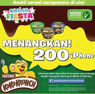Undian Nestle Breakfast Cereal Pack KOKO KRUNCH, MILO CEREAL & HONEY STARS Berhadiah 200 iPhone 6S