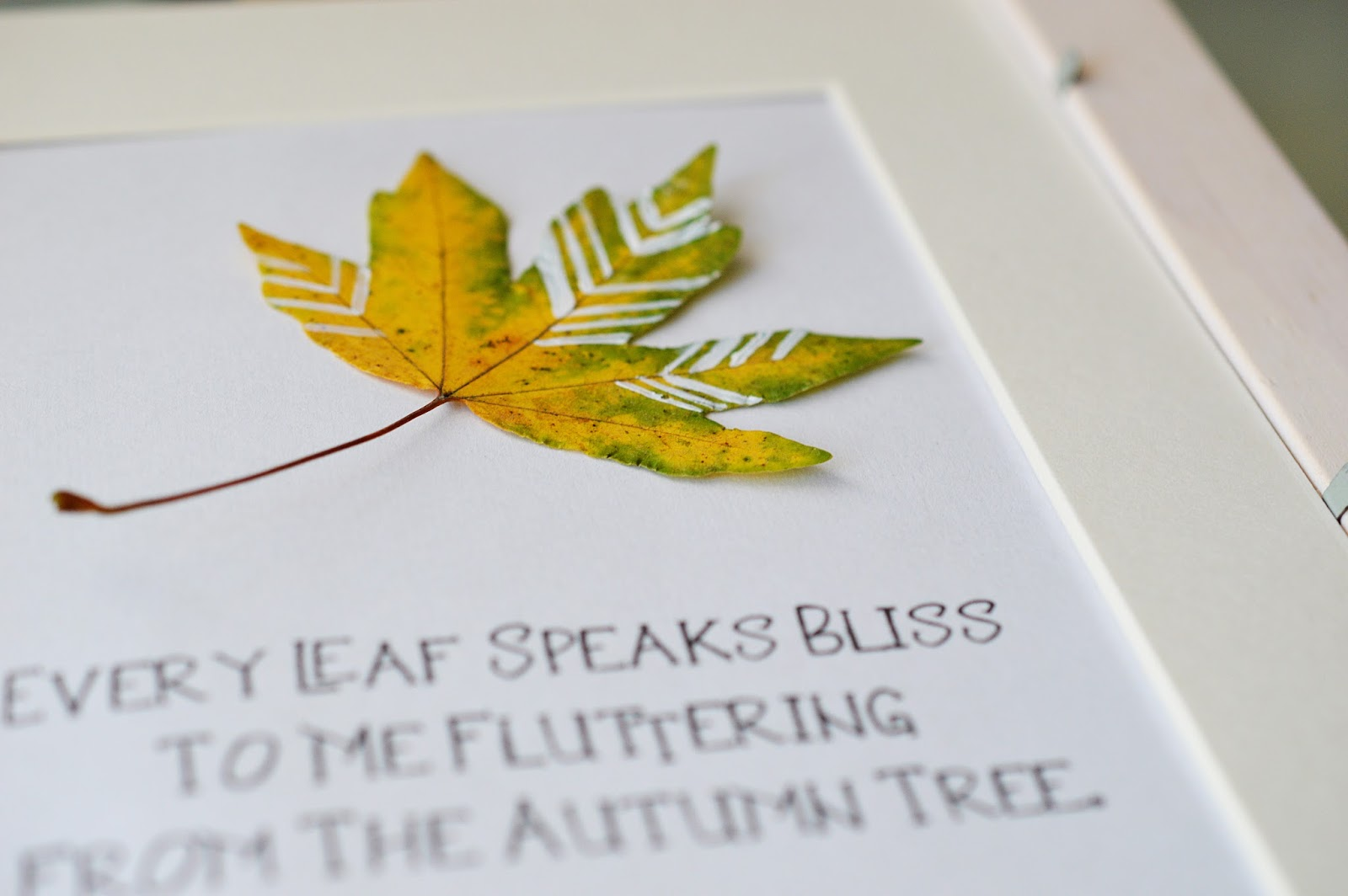 DIY Painted Leaves Display | Motte's Blog