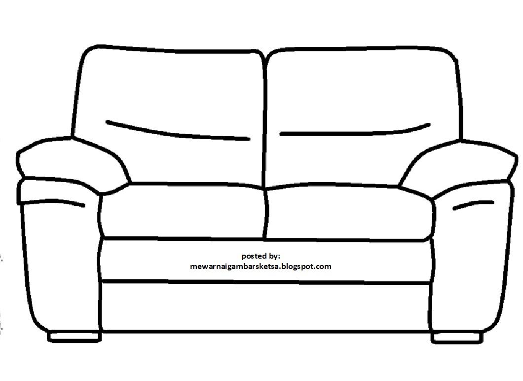 Mewarnai Gambar Sketsa Sofa 2