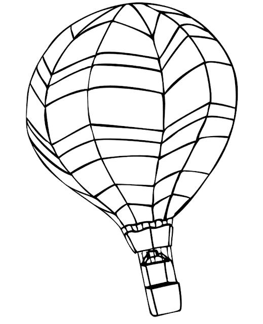 Gambar Mewarnai Balon Udara - 7
