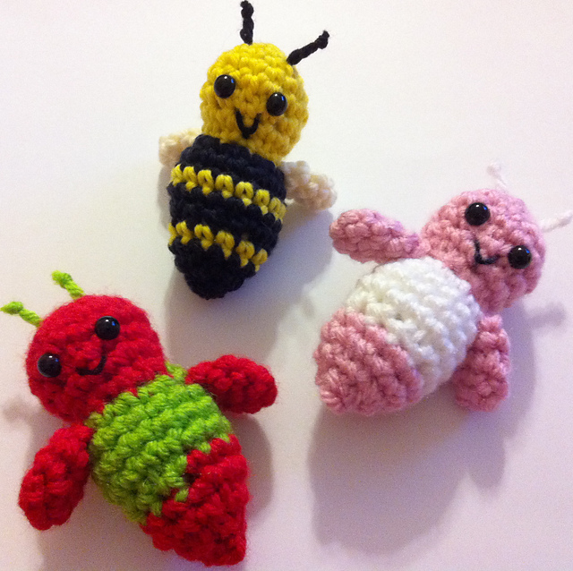Bumble Bee Crocheted Amigurumi PDF Pattern Bundle | Etsy | 638x640