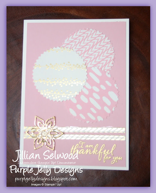 Blushing Bride Thank You Card, Painted Harvest Stamp Set