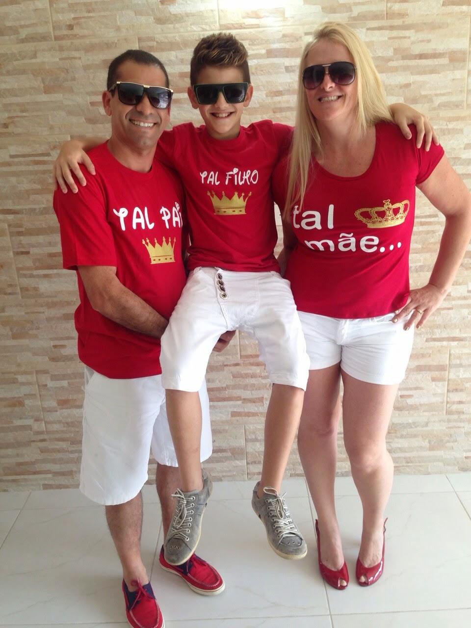Tal Pai Tal Filho Camisa Polo Vermelha Little Baby Gyn Elo7 2d694936eb3a6
