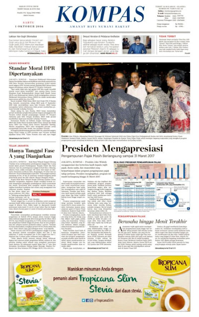 Kompas Edisi Sabtu 1 Oktober 2016