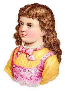 girl child image victorian clipart portrait digital antique stock