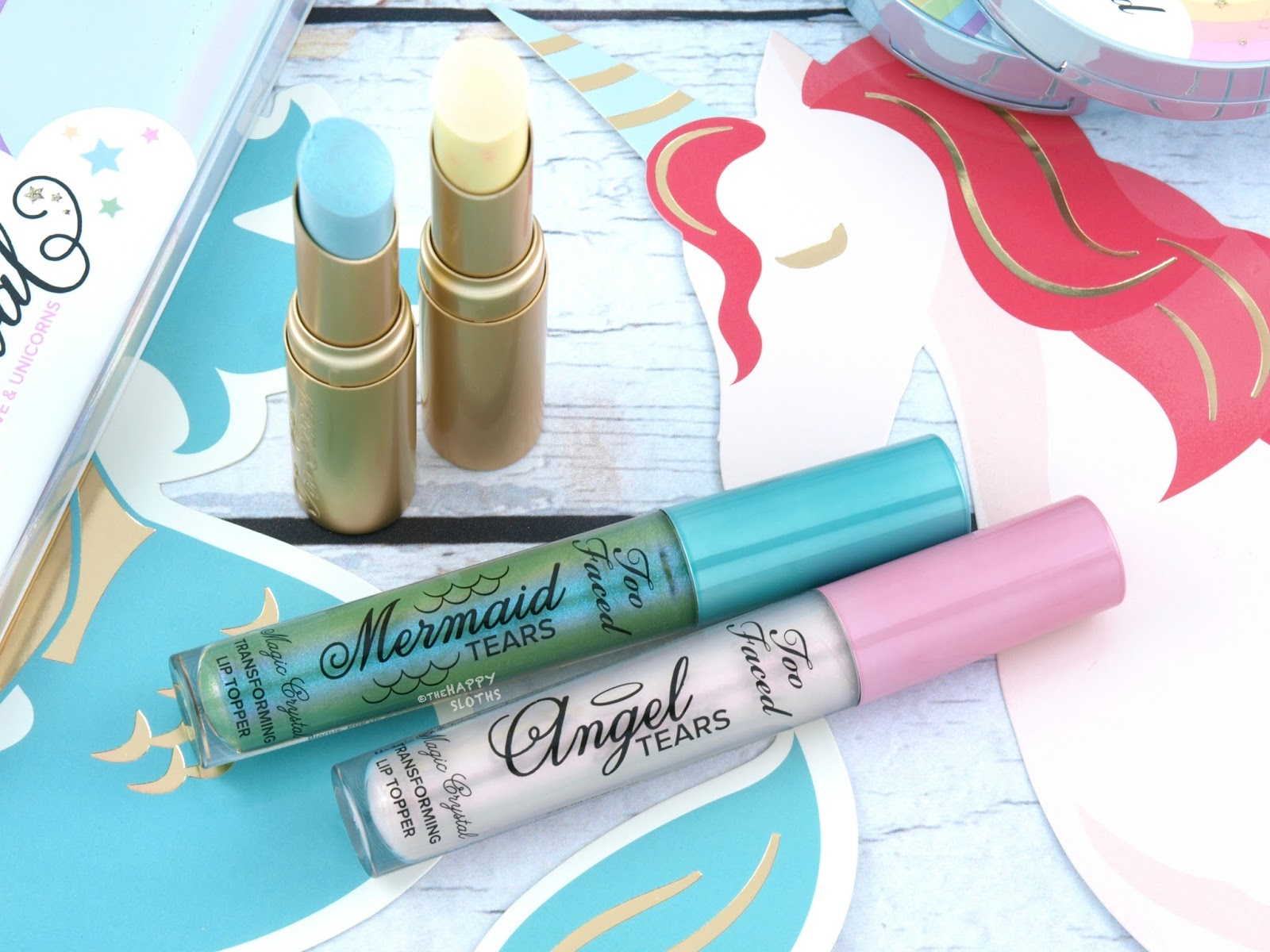 Too Faced | Life's A Festival Le Creme Mystical Lipstick & Magic Crystal Lip Topper : Review and Swatches