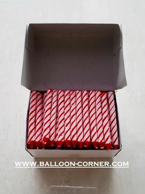 Lilin Spiral Merah Besar BOX 144
