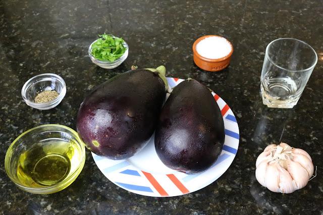 Ingredientes para berenjenas asadas