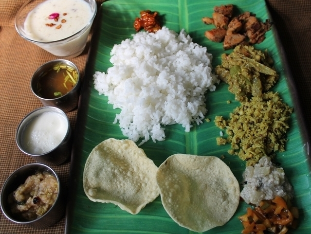 Simple South Indian Lunch Menu