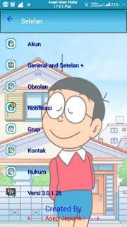 BBM MOD Doraemon V3.0.1.25 APK [Base Mod Transparant]4