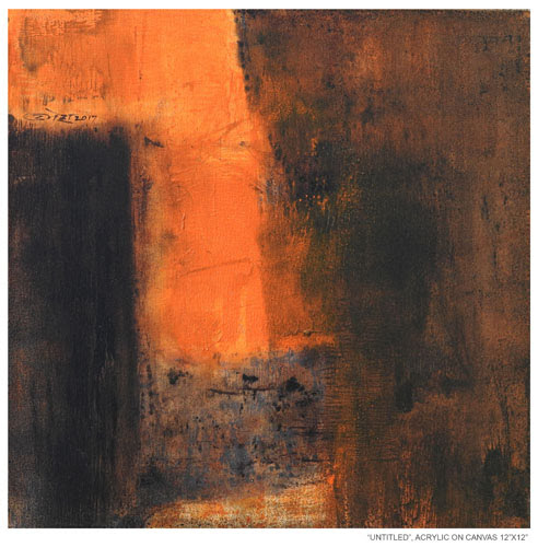 "4th Dec - 15th Dec 2017: Pradarshak presents 12"" x 12"" Solo Exhibition of Abstract Paintings by Umesh Patil"