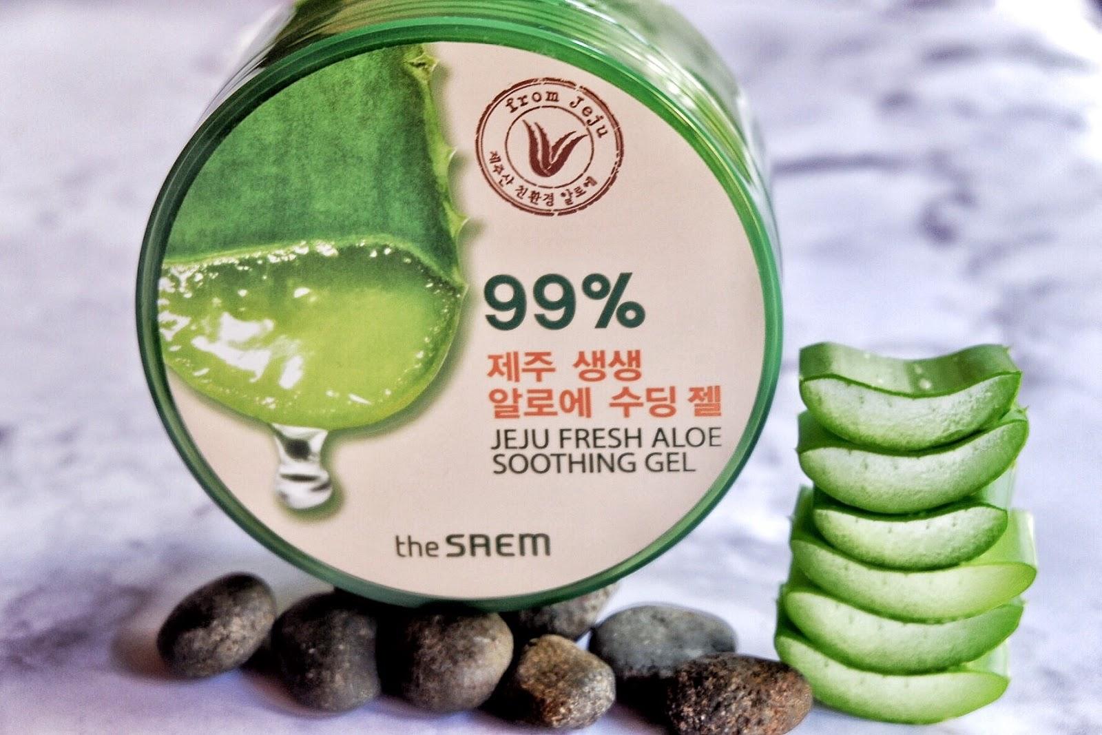Review The Saem Jeju Fresh Aloe Soothing Gel 99 Shooting