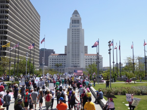 Downtown LA Tax March