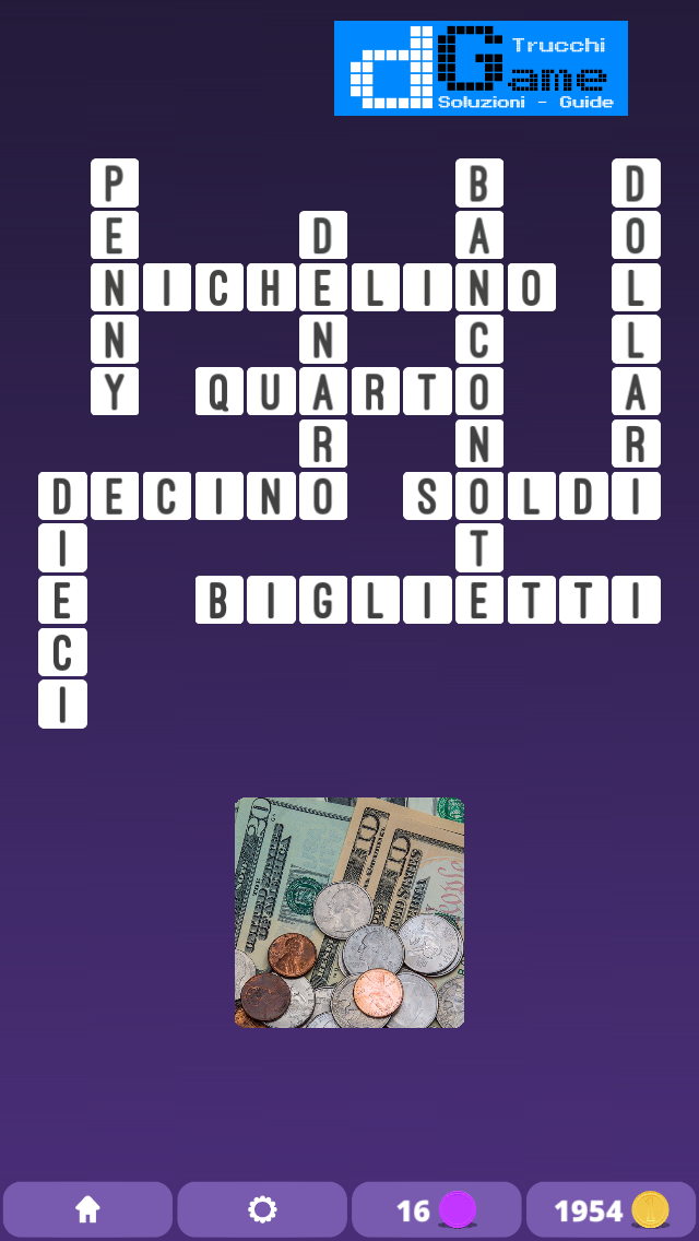 Soluzioni One Clue Crossword livello 1 Schema 8  (Cruciverba illustrato)  | Parole e foto