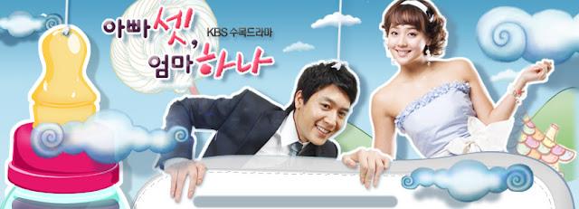 Comedy that will Make You Fart - Three Dad One Mom - Korean Drama 2008