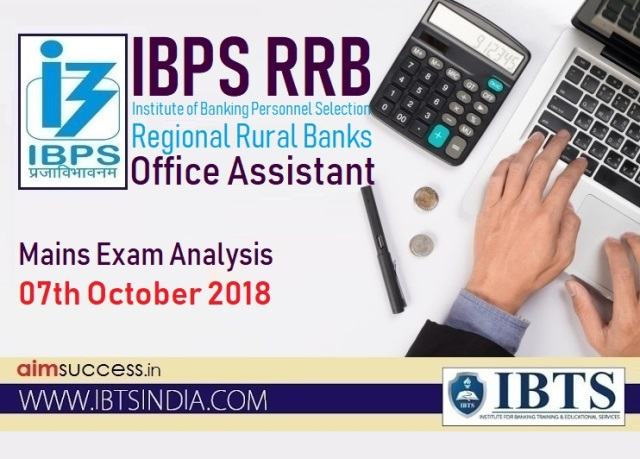 IBPS RRB Office Assistant Mains Exam Analysis & Questions Asked 7th October 2018