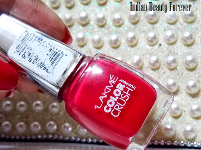 Lakme nail polish color crush swatches