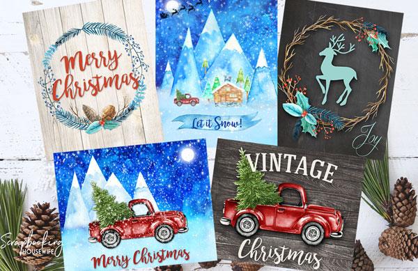 Free Christmas Wall Art Printables by Ellabella Designs