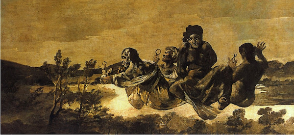 The Fates by Francisco de Goya y Lucientes, Macabre Art, Macabre Paintings, Horror Paintings, Freak Art, Freak Paintings, Horror Picture, Terror Pictures