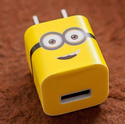 Minions iPhone Recharger Stickers