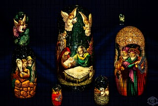 Professional quality stylized fine art photograph of a Russian doll Christmas Nativity scene in Pocatello, Bannock, Idaho by Cramer Imaging
