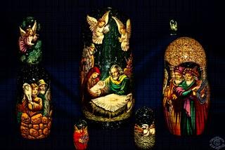 Professional quality stylized fine art photograph of a Russian doll Christmas Nativity scene in Pocatello, Bannock, Idaho by Cramer Imaging