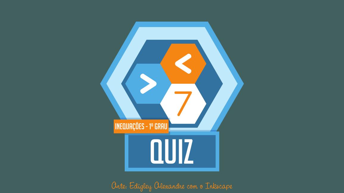 Quiz matemático 7: inequações do 1º grau