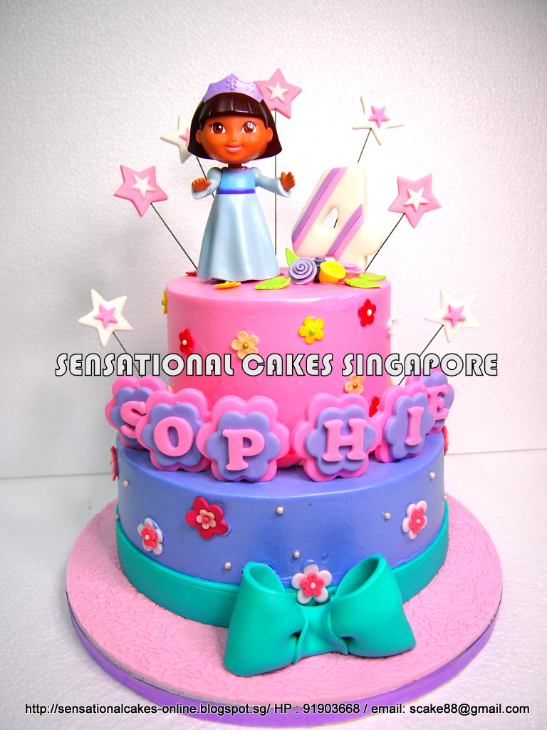 The Sensational Cakes Dora Sweet Pastel Cream Cake