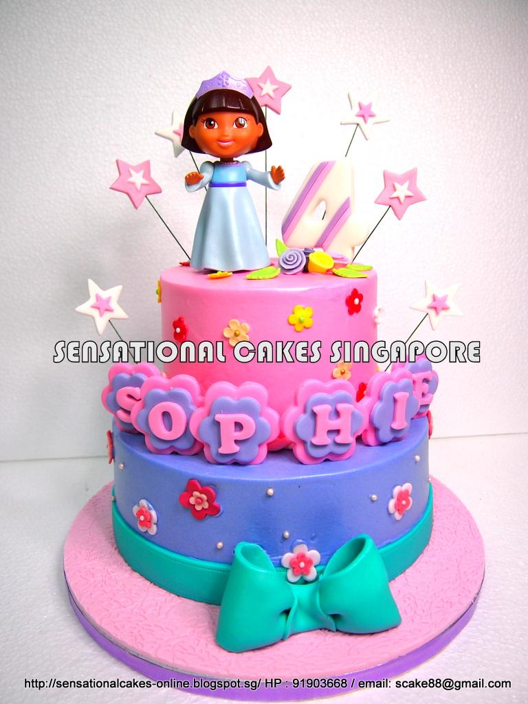 The Sensational Cakes Dora Sweet Pastel Cream Cake
