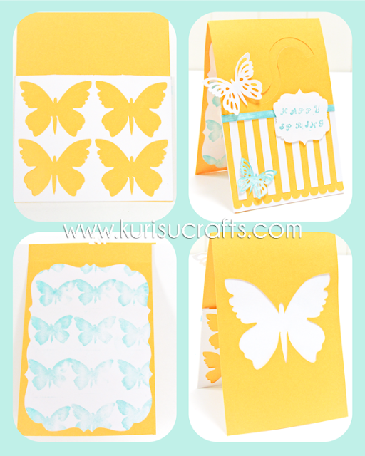 tarjeta mariposas kurisu crafts troquelados personalizados