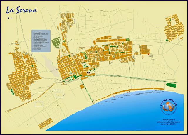 Mapa de La serena