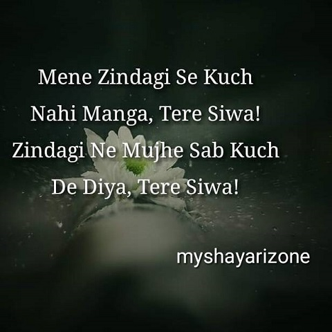 Tere Siwa Sad Zindagi Shayari Whatsapp Status Lines Pic Image in Hindi