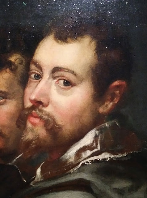 Peter Paul Rubens Self Portrait Painting Detail