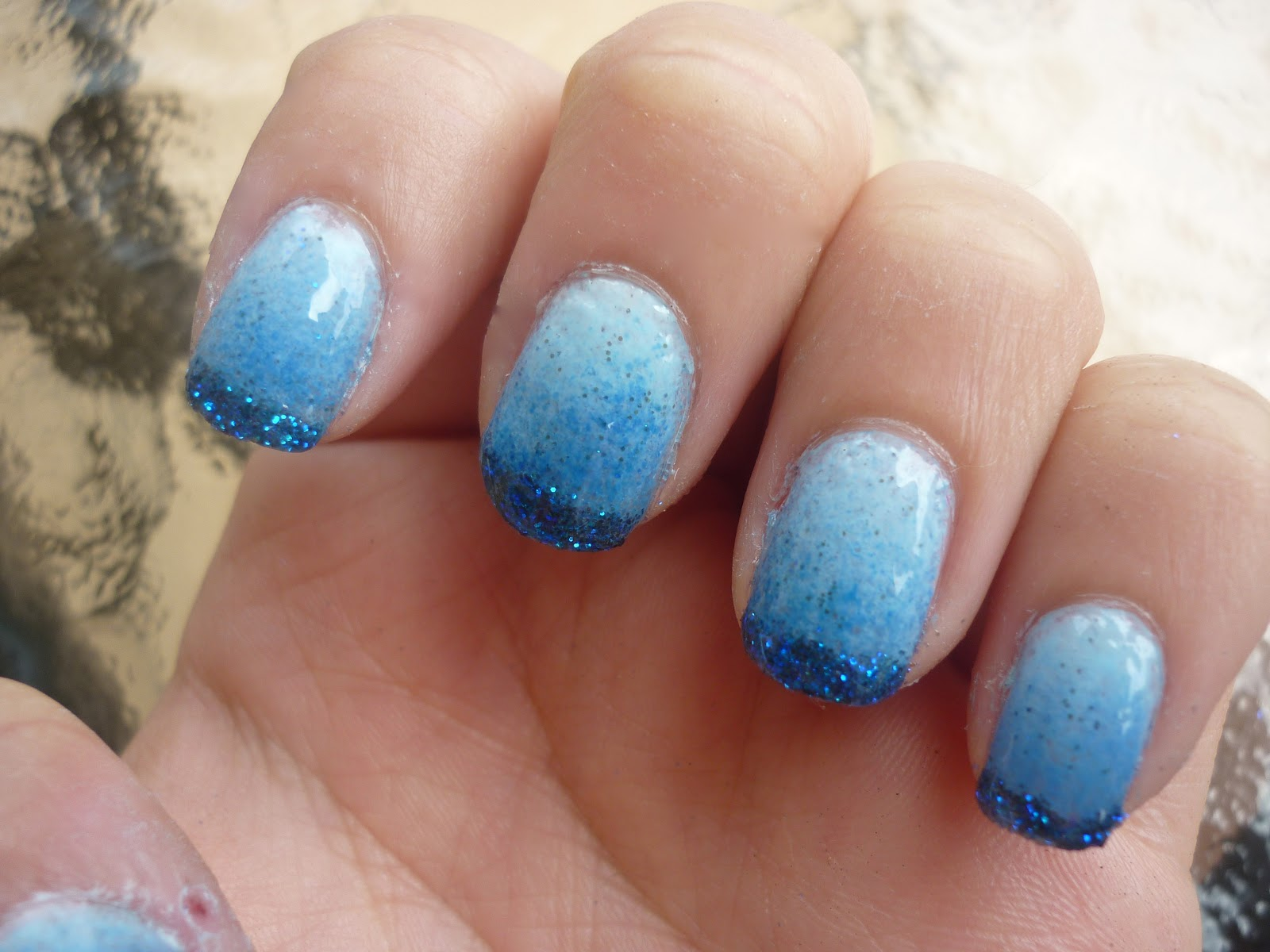 Glitter Ombre Nails Tutorial   taken by surprise