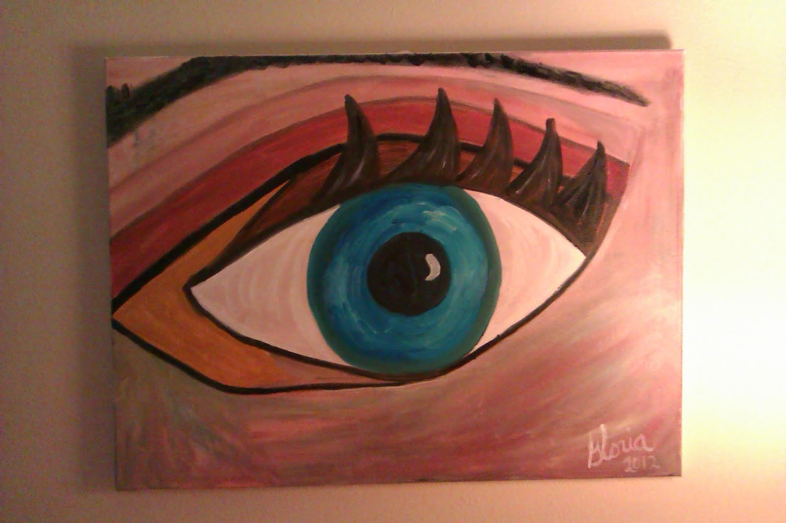 """The eye"" oil painting by Gloria Poole of Missouri"