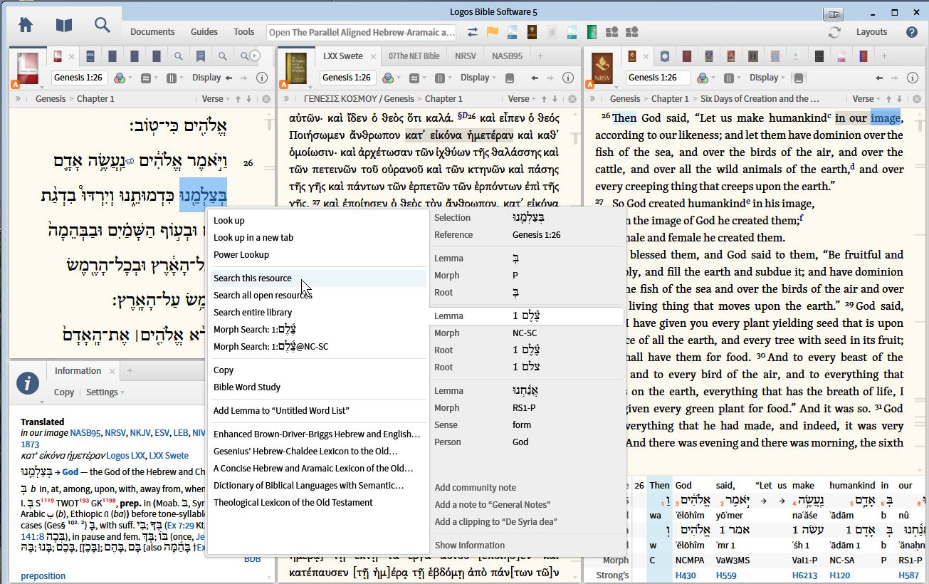 Biblical Studies and Technological Tools: Working with Hebrew, Greek