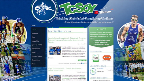 Nouveau site internet du Triathlon Club Saint-Quentin-en-Yvelines par Synoptic Productions