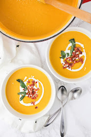 This delicious and flavorful butternut squash soup has a silky smooth texture, and is so easy to make!