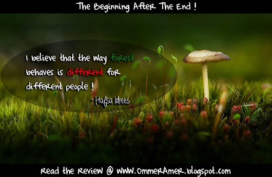 The Beginning After The End - Book Review - Hafsa Idrees